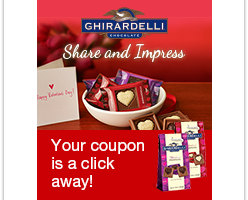 $1 OFF any GHIRARDELLI® Valentine's Day Item (3oz or more)