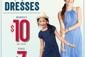 $10 Dresses : Old Navy In- Store TODAY ONLY! ($7 for Girls)
