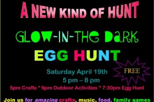 FREE EVENT: Oakland Glow-In-The Dark Egg Hunt (Sat. 4/19)