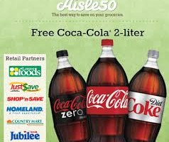 FREE $50 Amazon Gift Card for YOU, and 2 Liter Coke for you and 20 Friends via Aisle50!