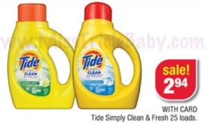 *HOT*: $1.94 Tide Simply Clean & Fresh 25 Loads at CVS This Week!!!