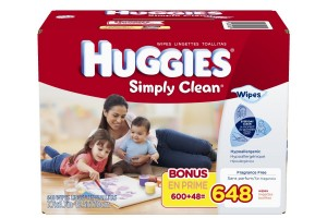 $9.40 for 648-Ct Huggies Simply Clean Fragrance Free Baby Wipes Refill (+ FREE Shipping)