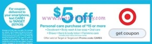 Target $5 OFF Personal Care Promotion Deal iDeas (7/20-7/26)