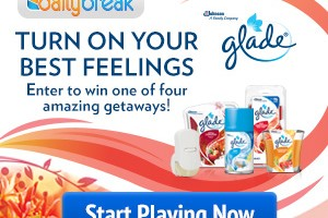 $1.00 Glade Coupon + Chance to Win 1 of 6 Prizes!!!