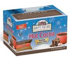 $7.30 36 Count Grove Square Hot Cocoa Variety Pack, 12-Count K-Cups (Qualifies for FREE Shipping)