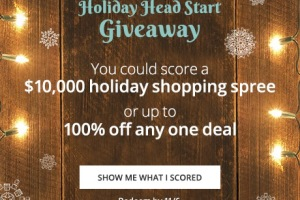 WIN $10,000 OR 1 FREE Deal: Groupon Holiday Headstart Giveaway!!!