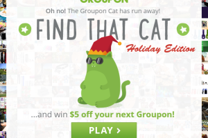 Groupon: FREE $5- Play Find that Cat Holiday Edition (Desktop & FB Required)!