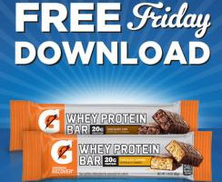 Kroger FREE Friday Download 8/21: Gatorade Recover Whey Protein Bar