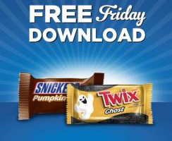 Free Friday Snickers Pumpkin or Twix Ghost!