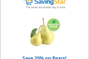 SavingStar Healthy Offer: Save 20% on Pears!