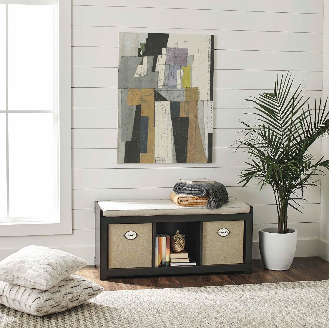 Hot Deal On This 3 Cube Storage Bench From Walmart. Right Now You Can Grab  The BHG Organizer Bench For Just $25.35 + FREE Store Pick Up (Reg $99.00)!!!