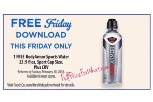Kroger: Free BodyArmor Sport Water (FREEBIE Friday)