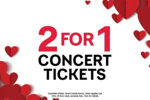 LIVE NATION: 2 For 1 Concert Tickets ❤